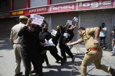 Massive protest of thousands erupt in Occupied Kashmir, Indian troops crackdown worsens: International media