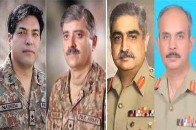Highest level promotions in Pakistan Army in last few months