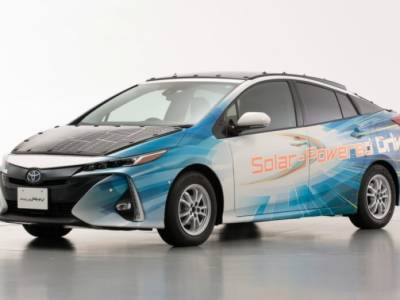 Solar Powered Toyota Prius being launched by Toyota Motors