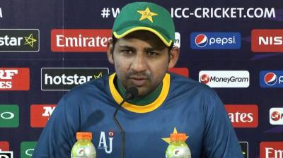 Pakistani Skipper Sarfraz Ahmed makes an appeal to the International Cricket Council