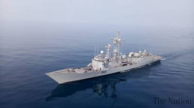 Pakistan Navy warship held joint drills with the middle eastern country Naval warships