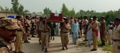 Four martyred soldiers laid to rest in their home towns