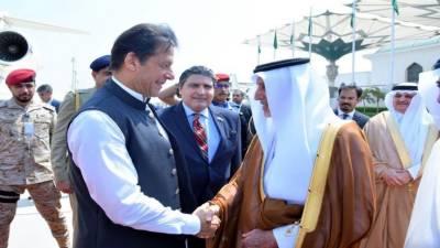 Pakistani PM Imran Khan receives warm welcome upon arrival at Jeddah, Saudi Arabia