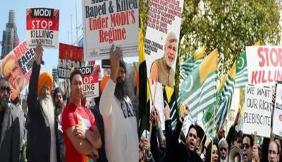 In a big embarassment ,Historic protests by Kashmiris and Khalistanis await Indian PM Modi in Houston Texas
