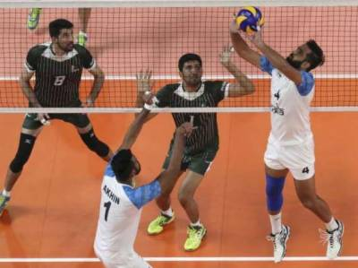 Pakistan beats India in the Asian Senior Men's Volleyball Championship in Iran