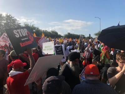 Massive protests breakout in Houston upon arrival of Indian PM Narendra Modi