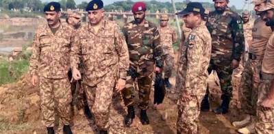 Chief of Army Staff General Bajwa visits earthquake affected areas in AJK