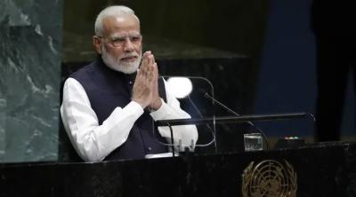 In a shame, Terrorist Modi urges World to unite against terrorism in his UNGA Speech
