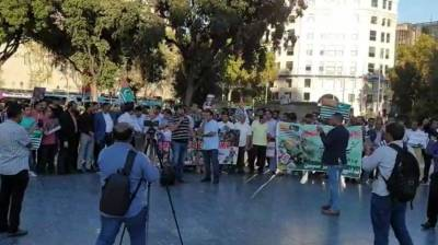 Pakistani and Kashmiris hold big protests against India in Spain's Barcelona