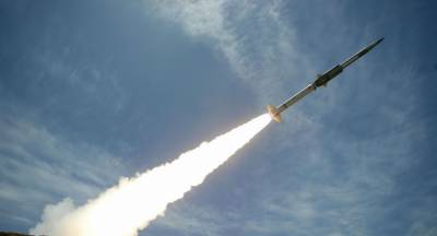 Supersonic sea skimming target missile launched off coast