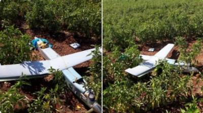 Two F - 16 fighter jets shot down a military drone