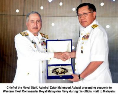 Pakistan Navy Chief makes important visit to Malaysian Navy fleet headquarters