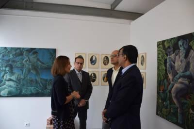 Pakistani renowned artists paintings showcased during Paris Art Week