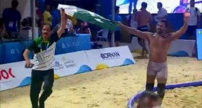 Pakistani wrestler Inam Butt makes history with Gold Medal in World Beach Games
