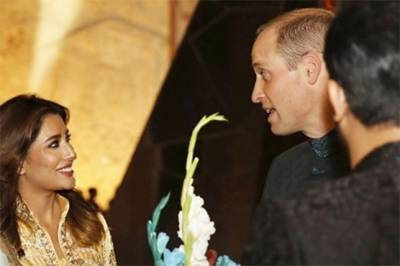 Pakistan's Mehwish Hayat seems highly impressed from Prince William
