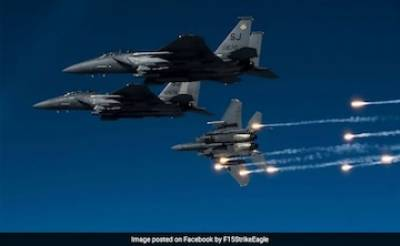 US Air Force Fighter jets bombed American Munitions storage bunkers