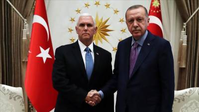 US Vice President Mike Pence held important meeting with Turkish President Tayyip Erdogan
