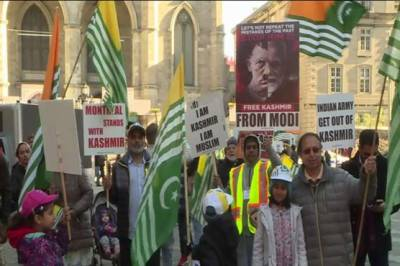 Huge rally held against India in Canada over Occupied Kashmir lockdown