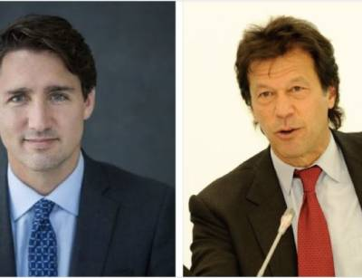 Pakistan PM Imran Khan sends message to Canadian PM Justin Trudeau