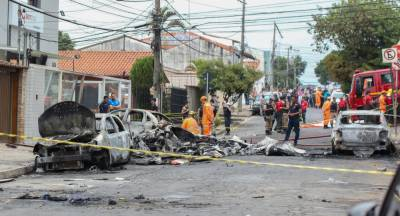 Plane crashed after take off killed and injured at least six people