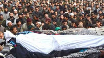 Indian forces martyr Kashmiri youth in fake encounter