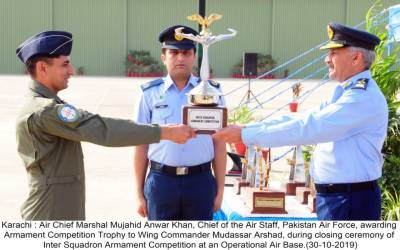 No 11 Squadron of PAF wins Inter Squadron Armament Competition