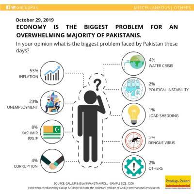 What is the biggest problem of the common Pakistani citizen? reveals Gallup Survey