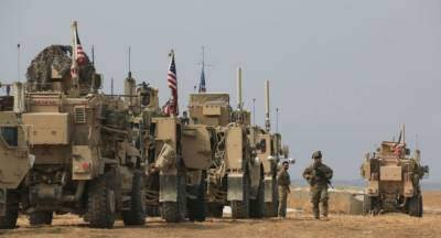 US Military troops convoy comes under fire