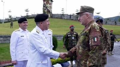 Chairman EU Military Committee General Graziano held important meeting with Pakistan Navy Chief