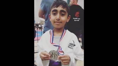 8 years old Pakistani British Abubakr Farooq makes history at World Martial arts Championship