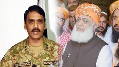 JUI - F Chief Fazalur Rehman reacts over latest statement of DG ISPR