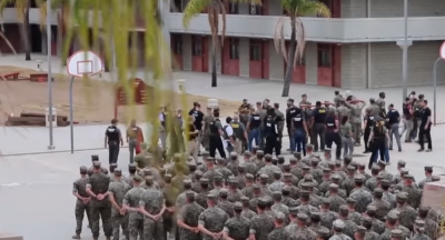 15 US Marine Corps soldiers arrested ceremoniously