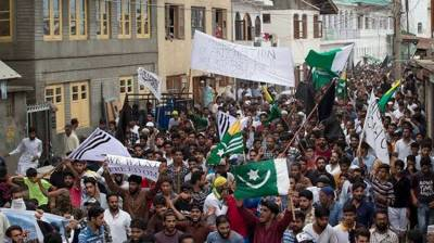 Massive forceful demonstrations in Occupied Kashmir