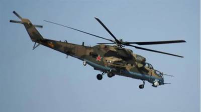 Military helicopters deployed to protect the Military Police patrols