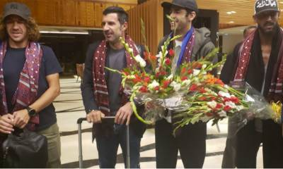 Top International football quartet arrive in Pakistan for exhibition matches in Lahore and Karachi
