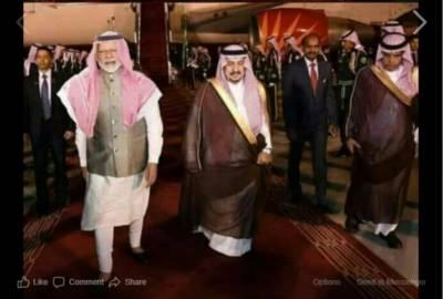 Did Indian PM Narendra Modi wear the traditional Arab Keffiyeh during his visit to Saudi Arabia?