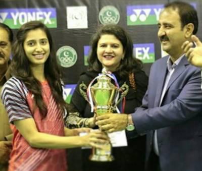 Pakistan's top Badminton player Mahnoor Shahzad wins International Badminton Tournament
