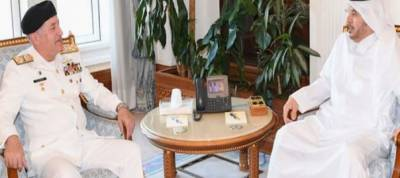 Pakistan Navy Chief held important meeting with Qatari Prime Minister in Doha
