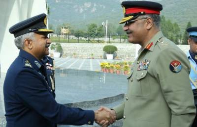 CJCSC General Zubair Mahmood Hayat paid farewell visit to PAF Headquarters