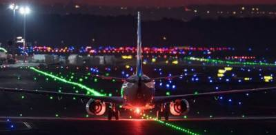 Airplane collided with another airplane after landing