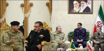 COAS General Bajwa held important meetings with the top military commanders of Iran
