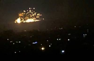 Israeli Airforce strike Iranian forces and Syrian army targets in Syria