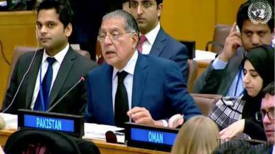 Pakistani Ambassador Munir Akram lashes out against India at the UNSC moot
