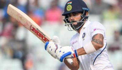Skipper Virat Kohli struck a debut century in the first day and night test match