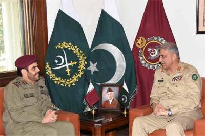 Commander Qatar Emiri Guard held important meeting with COAS General Qamar Bajwa