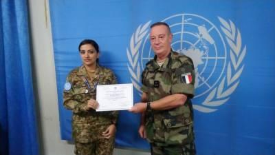 Pakistan Army female Major Samia Rehman wins UN special award 2019
