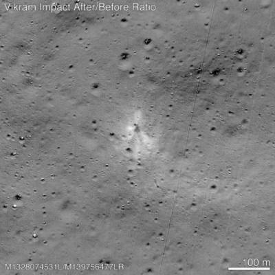 NASA finally traces the Indian failed moon mission lander 'Vikram' on Moon surface