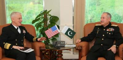US Navy Commander held important meeting with Pakistan Naval Chief at Islamabad
