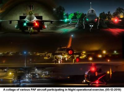 Pakistan Air Force held massive night operations exercise involving entire fleet and air defence system