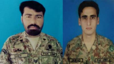 Pakistan Army two soldiers martyred in an encounter with the terrorists in an intelligence-based operation